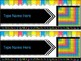 EDITABLE Student Desk Name Plates (With and Without) Class Dojo Tracker