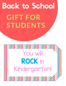 EDITABLE Student Gift Tag (Beginning of the Year)