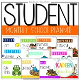 EDITABLE Monthly Student Planner and Binder Templates