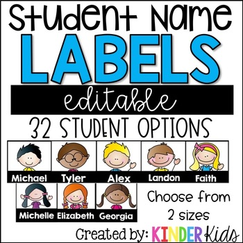 EDITABLE Student Name Labels