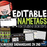 EDITABLE Student Name tags / Name plates for student desks