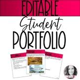 EDITABLE Student Portfolio | Digital AND Printable | Dista