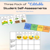 EDITABLE Student Self Assessments- 3 Pack of Templates (Mi