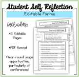 EDITABLE Quarterly Student Self Reflection Tool