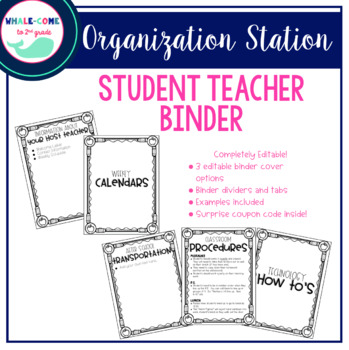 Student teacher binders teaching resources teachers pay teachers editable student teacher binder editable student teacher binder fandeluxe Gallery
