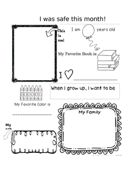 EDITABLE Student of the Month fact sheet
