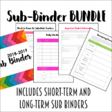 EDITABLE Sub Binder BUNDLE for Middle and High School Teachers