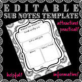 EDITABLE Sub Notes Template!