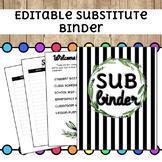 EDITABLE Substitute Binder