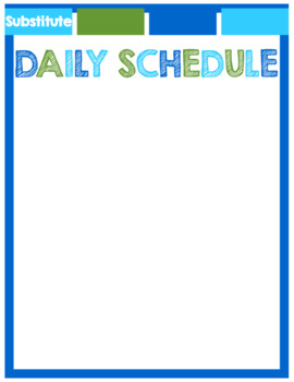 *EDITABLE* Substitute Binder ~ Blue & Green Theme