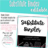 EDITABLE Substitute Binder: Elementary Edition