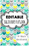 EDITABLE Substitute Flipbook