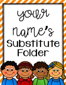 EDITABLE Substitute Folder/Binder