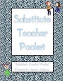 EDITABLE Substitute Teacher Packet
