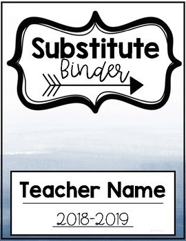 EDITABLE Substitute binder