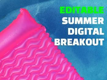Summer Digital Breakout EDITABLE