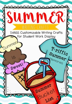 EDITABLE Summer Writing Crafts