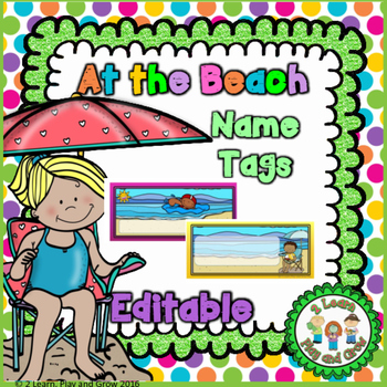 Name Tags - Summer Kids at the Beach