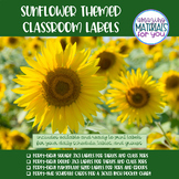 EDITABLE Sunflower Schedule, Table, Group, and Job Labels