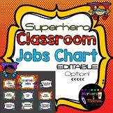 EDITABLE Superhero Classroom Jobs Chart