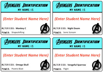 EDITABLE Superhero Desk Name Tags / Desk Name Plates / Desk Toppers