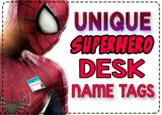 EDITABLE Superhero Desk Name Tags / Desk Name Plates / Des