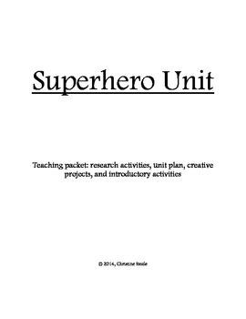 Superhero Project *EDITABLE*