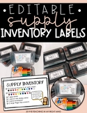 EDITABLE Supply Inventory Labels