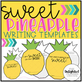 EDITABLE Sweet Pineapple Writing {Back to School & End of Year Prompts}