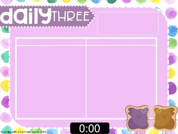 EDITABLE Sweets Daily 5 & 3 Boards with TIMERS (Gradient & Digital)