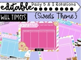 EDITABLE Sweets Daily 5 Rotation Boards with TIMERS (Gradi