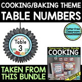 EDITABLE TABLE NUMBERS for COOKING THEME by CLUTTER FREE C