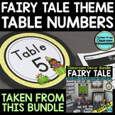 EDITABLE TABLE NUMBERS for FAIRY TALE THEME by CLUTTER FRE