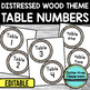 EDITABLE TABLE NUMBERS for FARMHOUSE THEME by CLUTTER FREE CLASSROOM