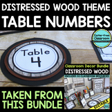 EDITABLE TABLE NUMBERS for FARMHOUSE THEME by CLUTTER FREE