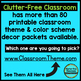 EDITABLE TABLE NUMBERS for FOX THEME by CLUTTER FREE CLASSROOM