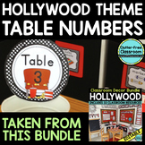 EDITABLE TABLE NUMBERS for HOLLYWOOD THEME by CLUTTER FREE