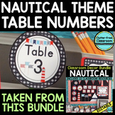 EDITABLE TABLE NUMBERS for NAUTICAL THEME by CLUTTER FREE