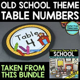 EDITABLE TABLE NUMBERS for OLD SCHOOL THEME by CLUTTER FRE