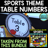 EDITABLE TABLE NUMBERS for SPORTS THEME by CLUTTER FREE CLASSROOM
