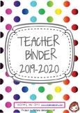 TEACHER BINDER 2019/2020_ AGENDA PER INSEGNANTE 2019/2020