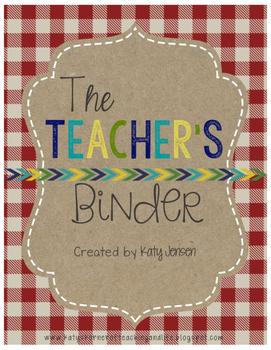 EDITABLE TEACHER BINDER (CAMPING/CABIN THEMED) ~ FREE UPDATES