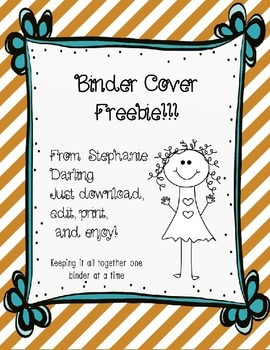 EDITABLE TEACHER BINDER COVER FREEBIE