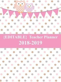EDITABLE TEACHER PLANNER 2017-2018