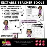 EDITABLE - TEACHER TOOLS - NEWSLETTERS - CALENDARS - TODO