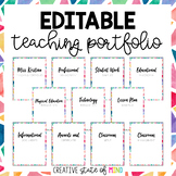 EDITABLE TEACHING PORTFOLIO (COLOR)