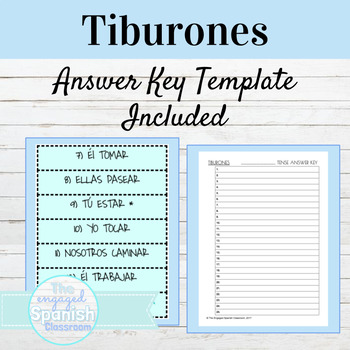 EDITABLE TIBURONES TEMPLATE: EDITABLE GAME! 50% off for first 48 hrs!