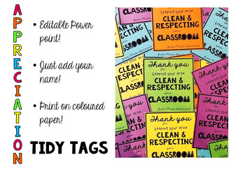 EDITABLE- TIDY TAGS