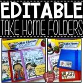 EDITABLE Take Home Folder Covers, Labels, and Behavior Calendars