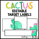 EDITABLE Target Labels: Cactus